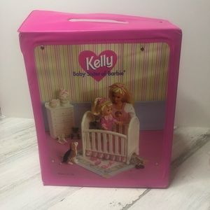 Kelly Barbie Sister Fold Out Nursery with dolls